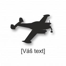SESTAVTE SI: řezaná samolepka s motivem sportovní letadla dle výběru a Vaším textem