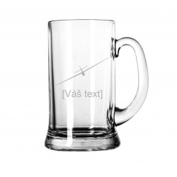 Your - Sandblasted glass litre with motive of a gliders of your choice and your text