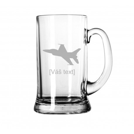 Your - Sandblasted glass litre with motive of a military, of your choice and your text