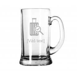 Your - Sandblasted glass litre with motive of a airport, of your choice and your text