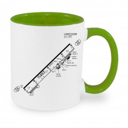 Ceramic mug - Charts, different color