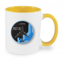 Ceramic mug - Boeing 747 badge, different color