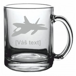 Your - Sandblasted glass mug with motive of a military, of your choice and your text