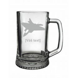 Your - Sandblasted glass half a pint  with motive of a military, of your choice and your text