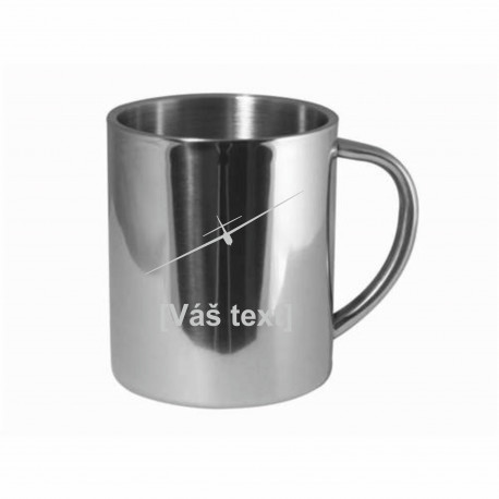 Your - Sandblasted stainless steel mug with motive of a gliders of your choice and your text
