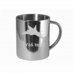 Your - Sandblasted stainless steel mug with motive of a military, of your choice and your text