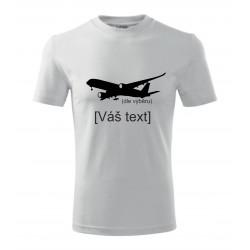 SESTAVTE SI: Triko s motivem dopravní letadla,dle výběru a vlastním textem