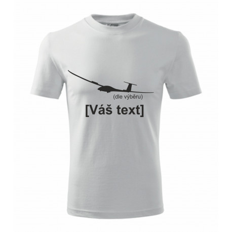 Your -  printed T-shirt with motive of a gliders, of your choice and your text