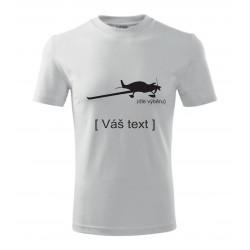 SESTAVTE SI: Triko s motivem sportovní letadla, dle výběru a vlastním textem
