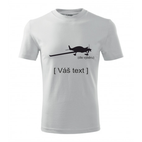Your -  printed T-shirt with motive of a sport aircraft, of your choice and your text