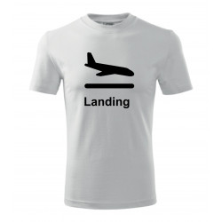 Your -  printed T-shirt with motive of an airport, of your choice and your text