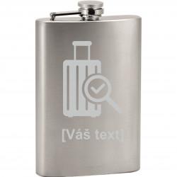 SESTAVTE SI: Pískovaná skleněná placatka s motivem letiště, dle výběru a vlastním textem