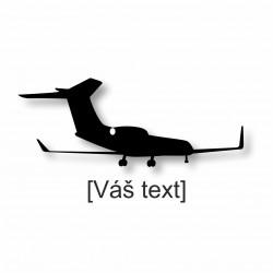 SESTAVTE SI: řezaná samolepka s motivem dopravní letadla dle výběru a Vaším textem