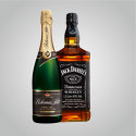 Pískované láhve alkoholu